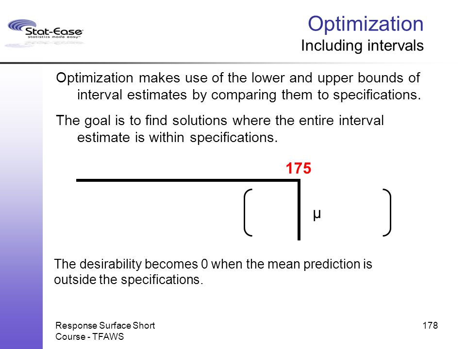 Optimization Including intervals
