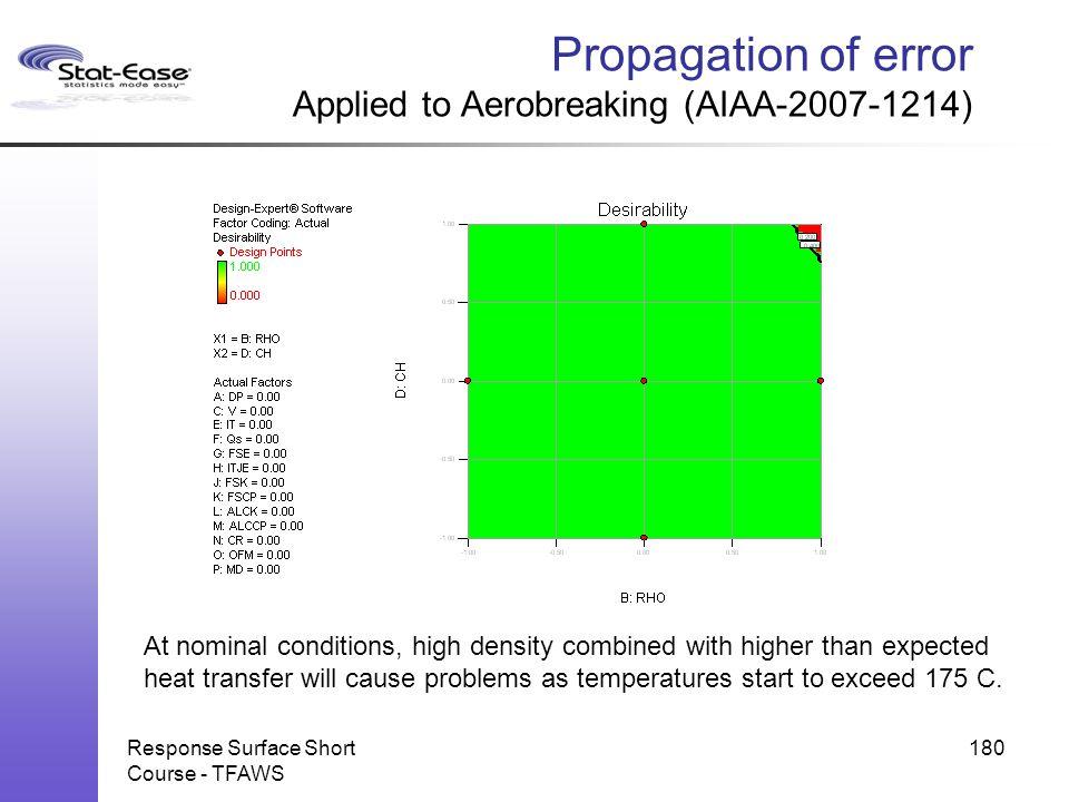 Propagation of error Applied to Aerobreaking (AIAA-2007-1214)