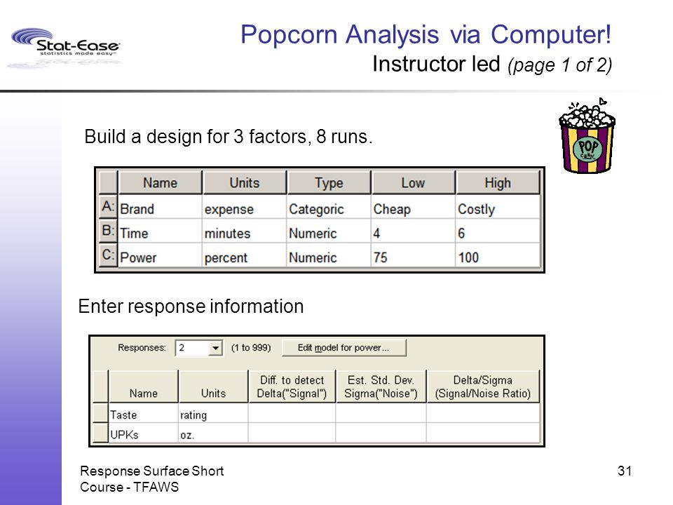 Popcorn Analysis via Computer! Instructor led (page 1 of 2)