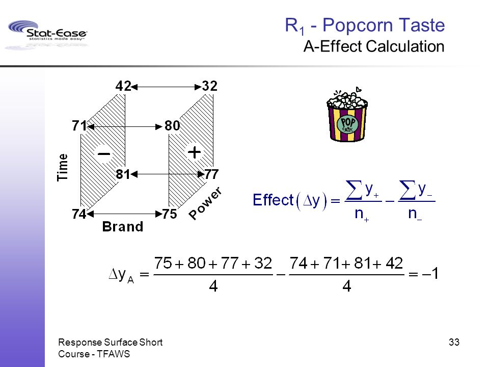 R1 - Popcorn Taste A-Effect Calculation