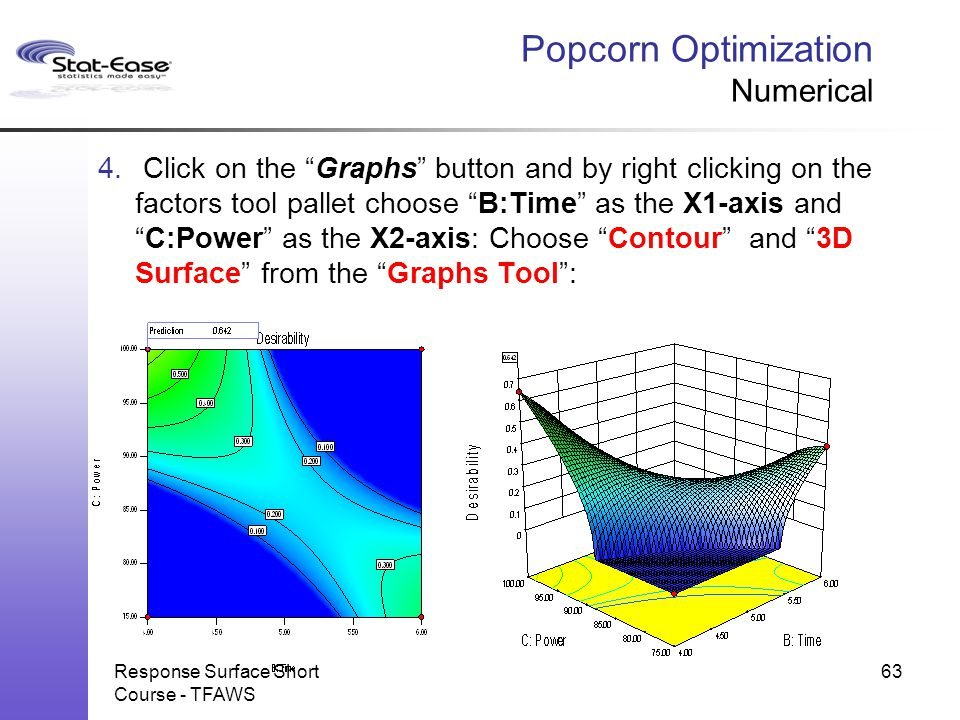 Popcorn Optimization Numerical