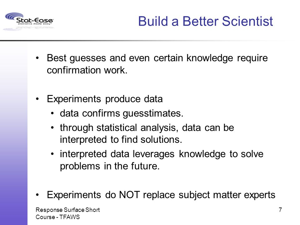 Build a Better Scientist