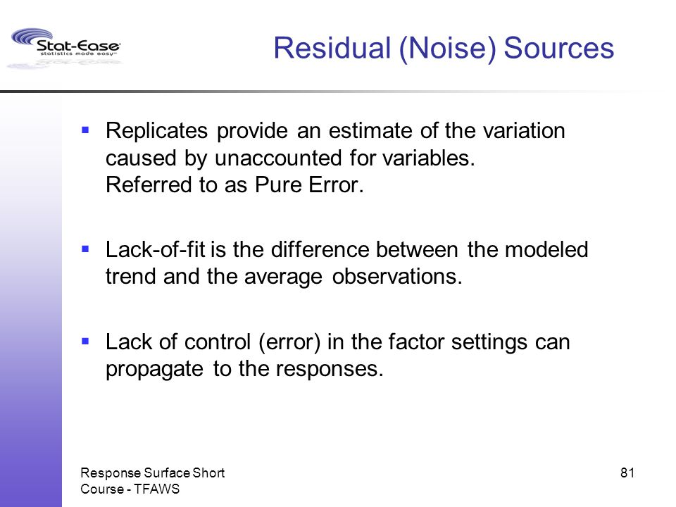 Residual (Noise) Sources
