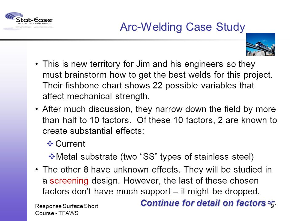 Arc-Welding Case Study