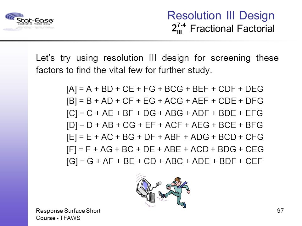 Resolution III Design Fractional Factorial