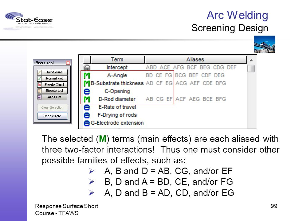 Arc Welding Screening Design