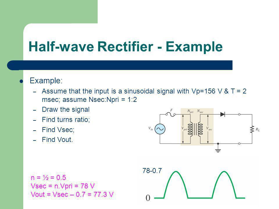 Half-wave Rectifier - Example