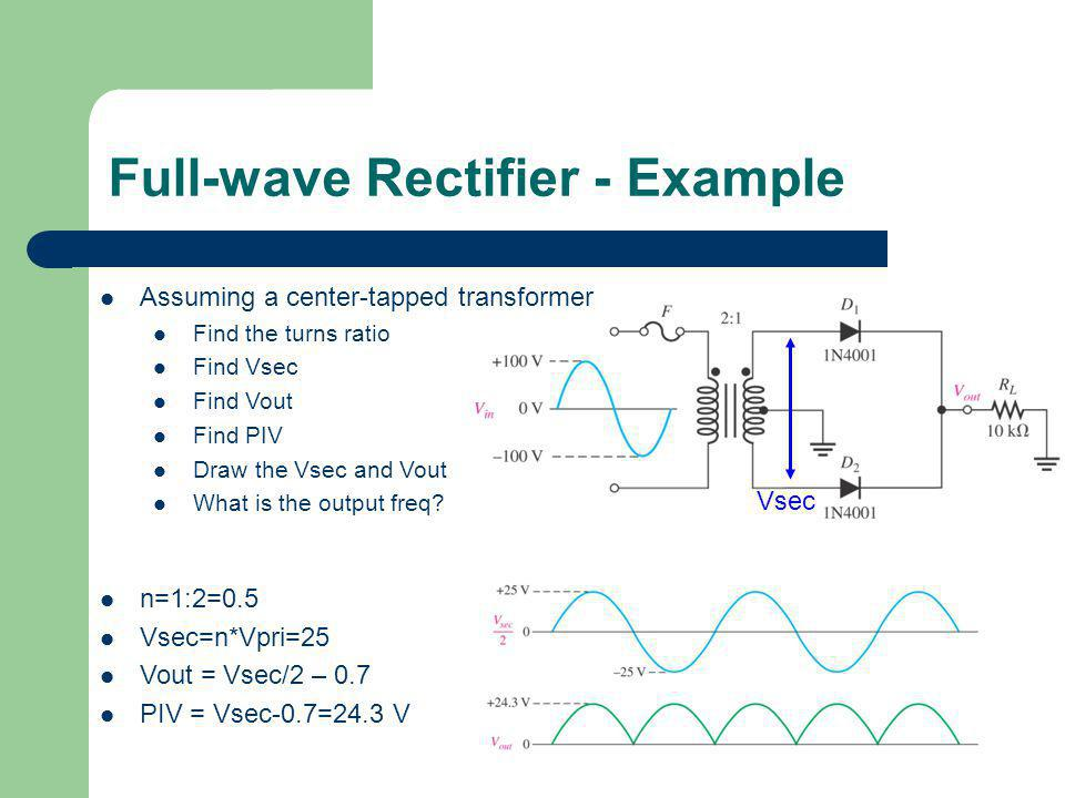 Full-wave Rectifier - Example