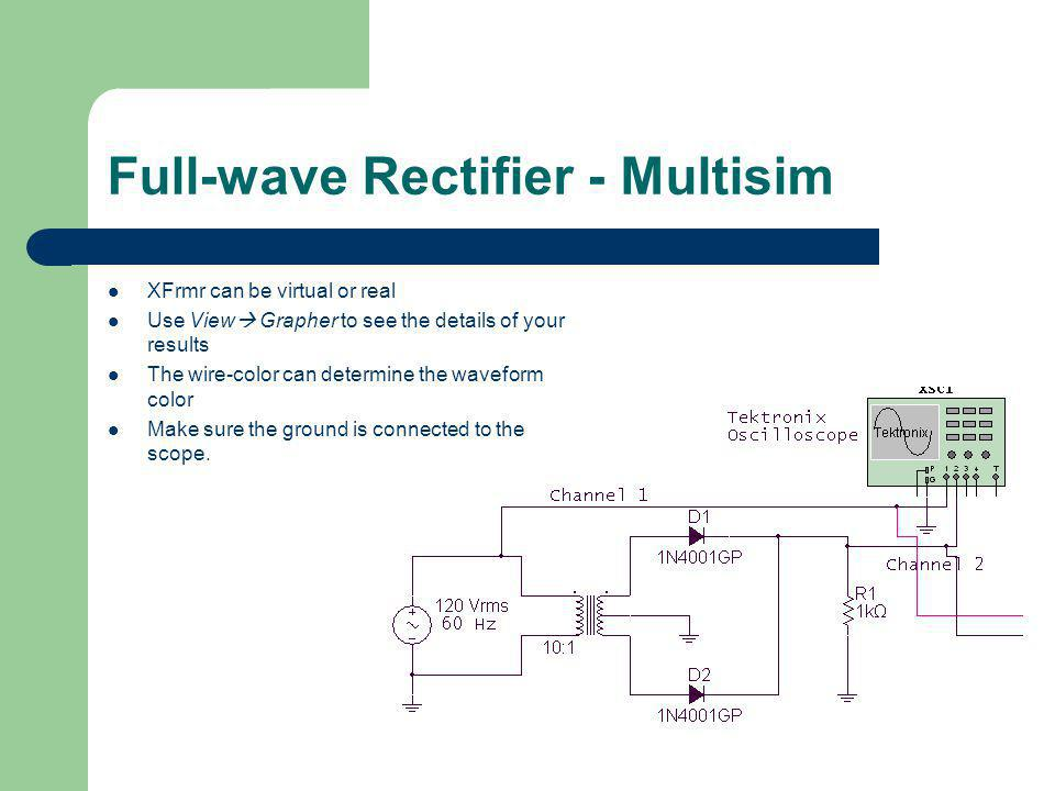 Full-wave Rectifier - Multisim