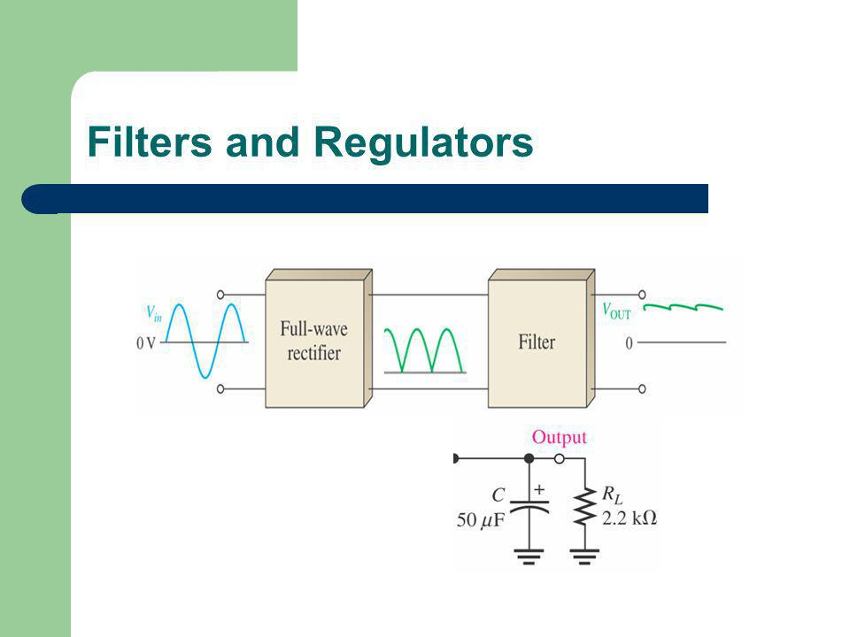 Filters and Regulators