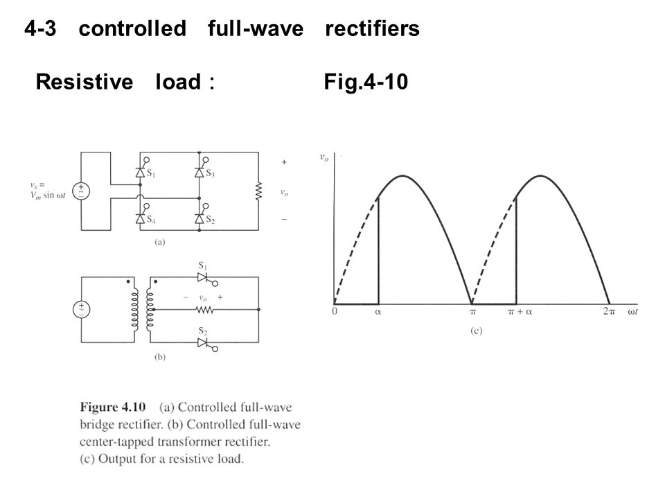 4-3 controlled full-wave rectifiers