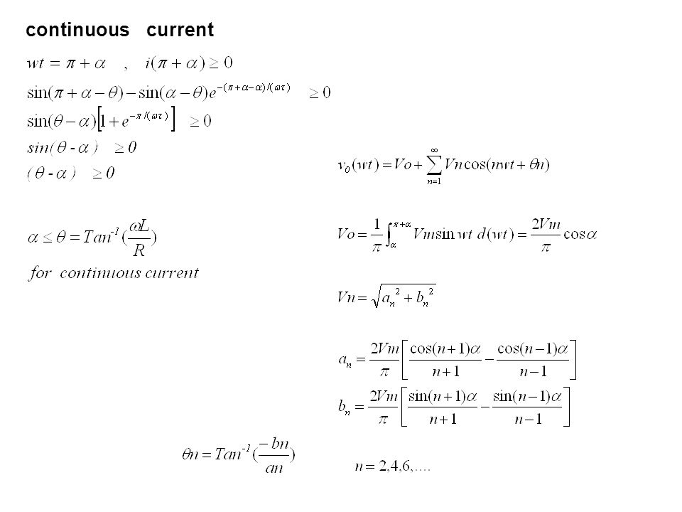 continuous current