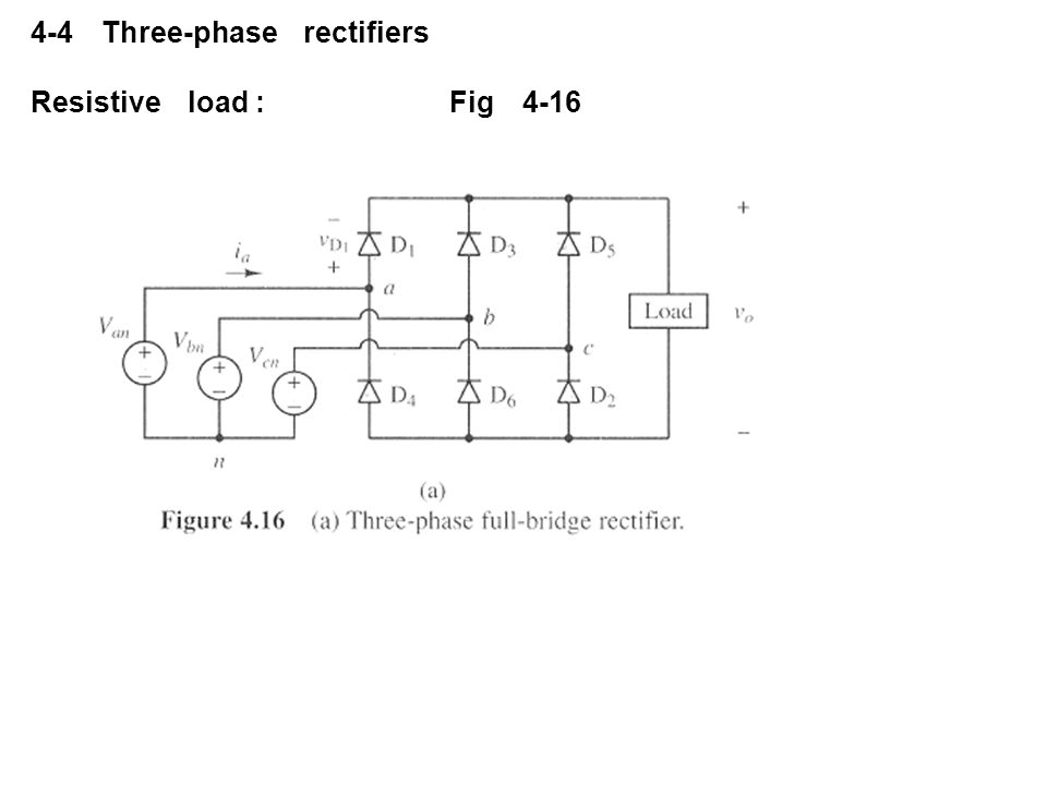 4-4 Three-phase rectifiers