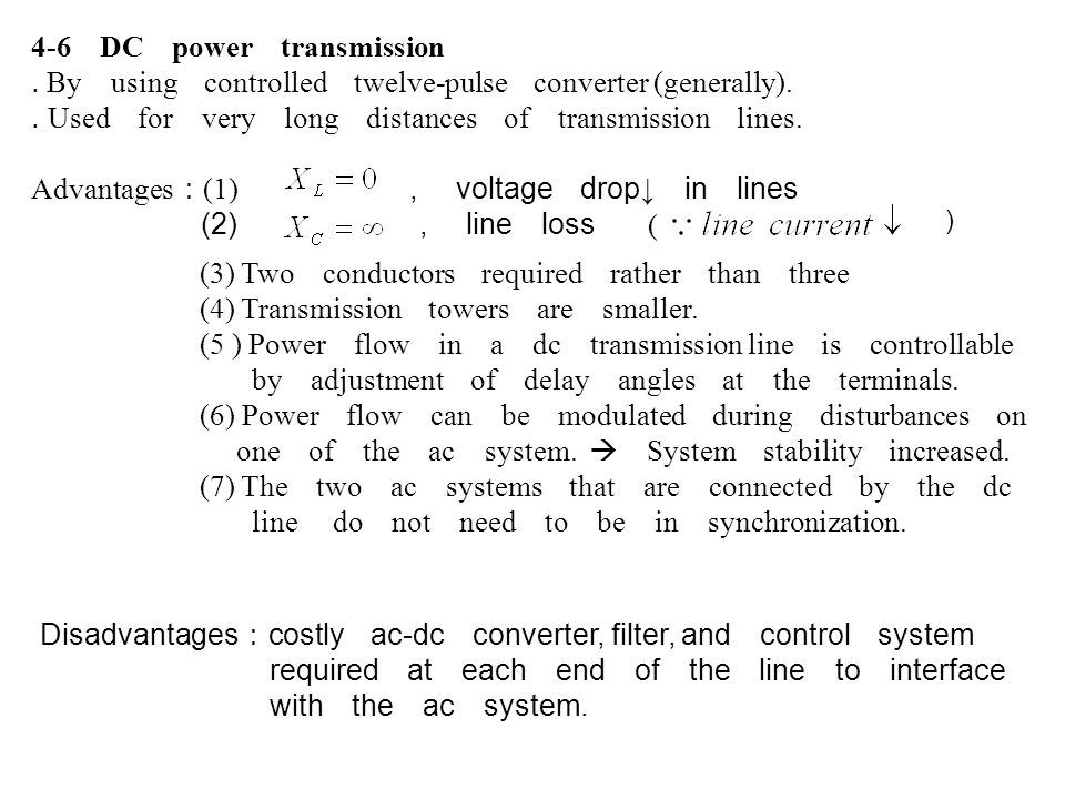 4-6 DC power transmission