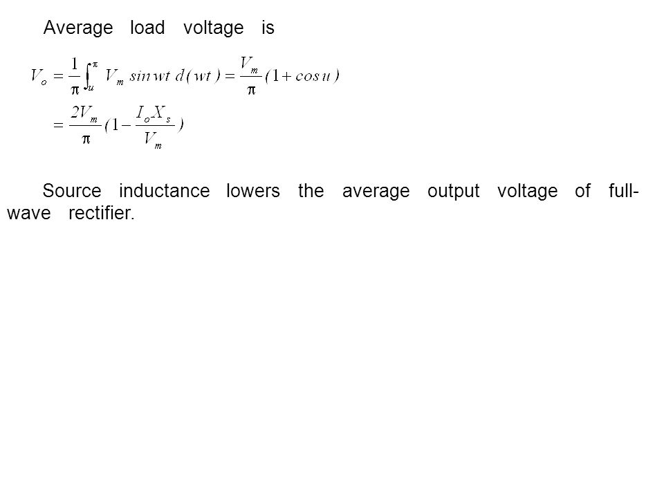 Average load voltage is