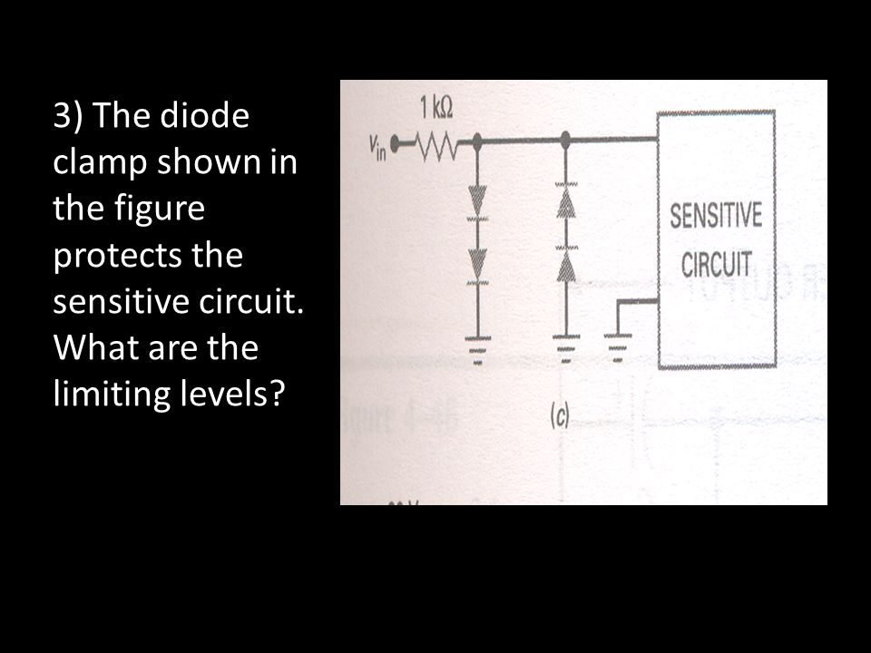 3) The diode clamp shown in the figure protects the sensitive circuit