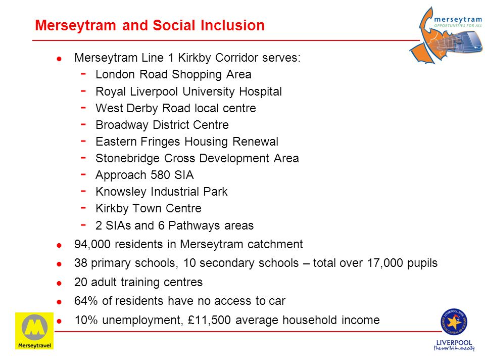 Merseytram and Social Inclusion