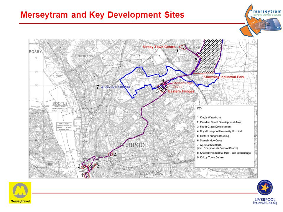 Merseytram and Key Development Sites