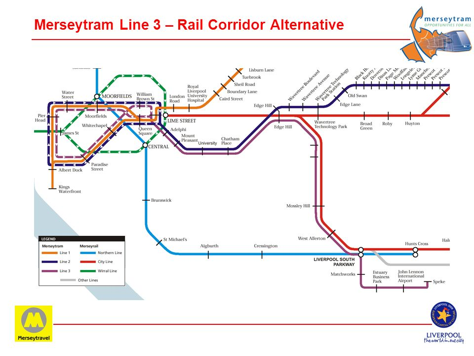 Merseytram Line 3 – Rail Corridor Alternative