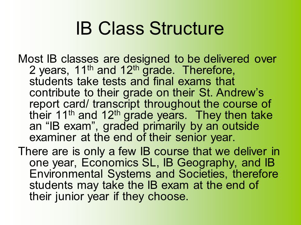 IB Class Structure