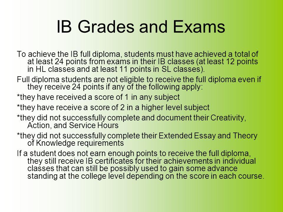 IB Grades and Exams