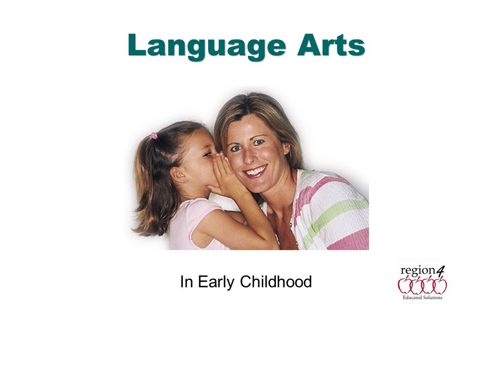 Language Arts In Early Childhood English Language Arts & Reading