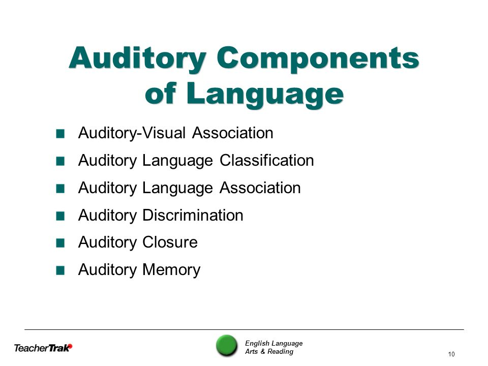 Auditory Components of Language