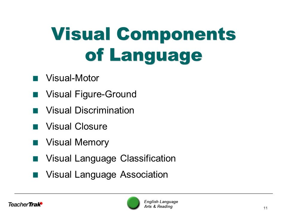Visual Components of Language