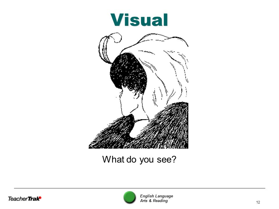Visual What do you see English Language Arts & Reading