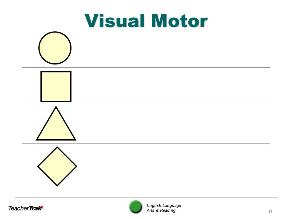 Visual Motor English Language Arts & Reading