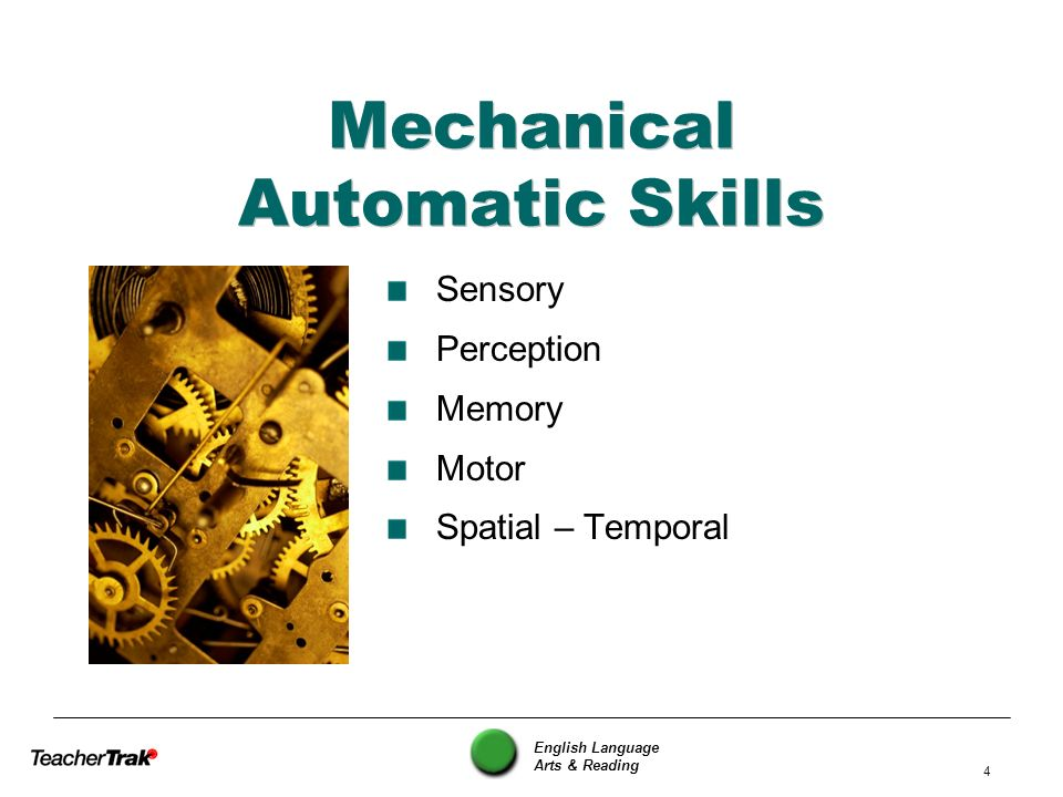 Mechanical Automatic Skills