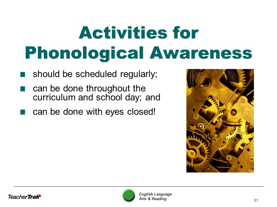 Activities for Phonological Awareness