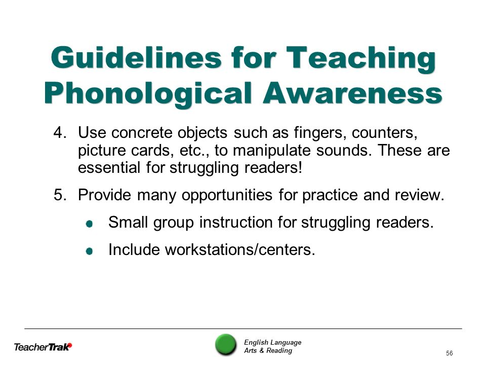 Guidelines for Teaching Phonological Awareness