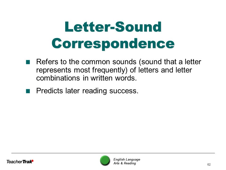 Letter-Sound Correspondence