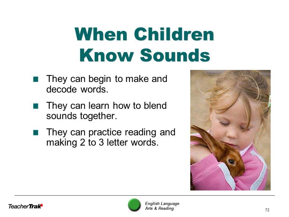 When Children Know Sounds