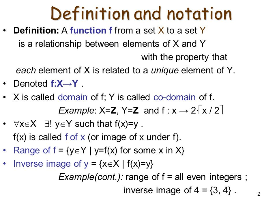 Definition and notation
