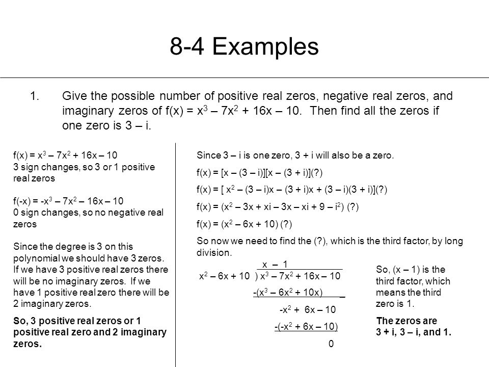 8-4 Examples