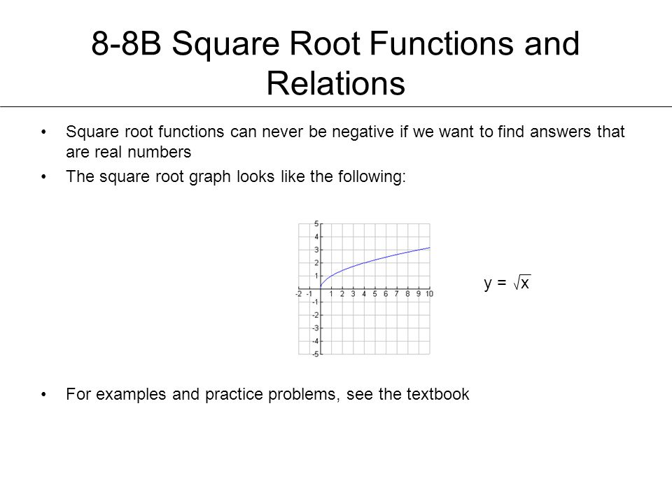 8-8B Square Root Functions and Relations