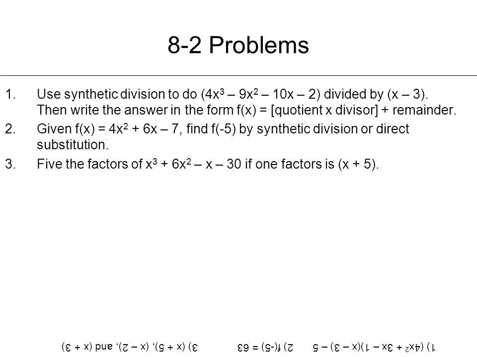 8-2 Problems