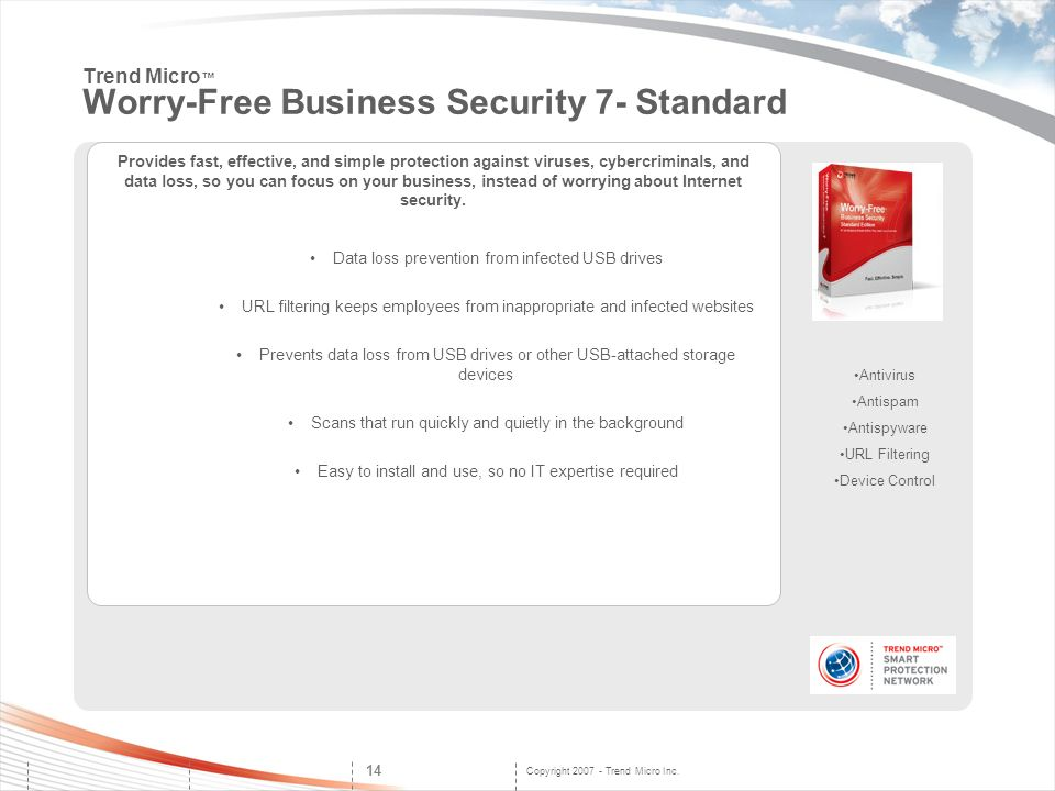 Trend Micro™ Worry-Free Business Security 7- Standard