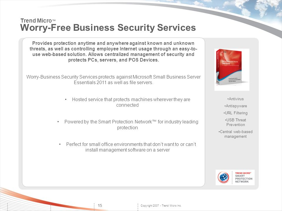 Trend Micro™ Worry-Free Business Security Services