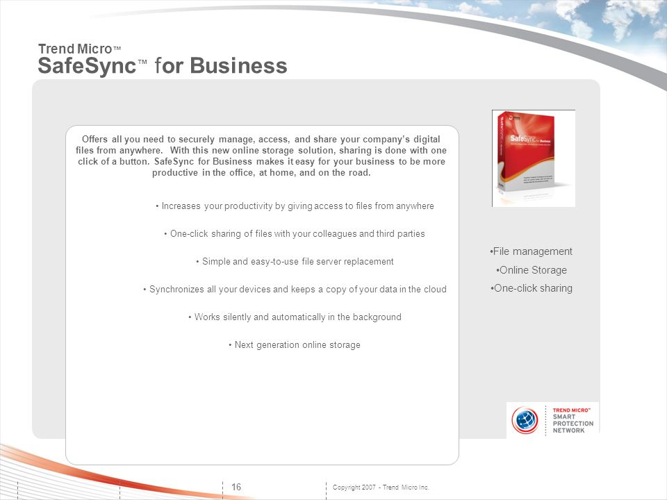 Trend Micro™ SafeSync™ for Business