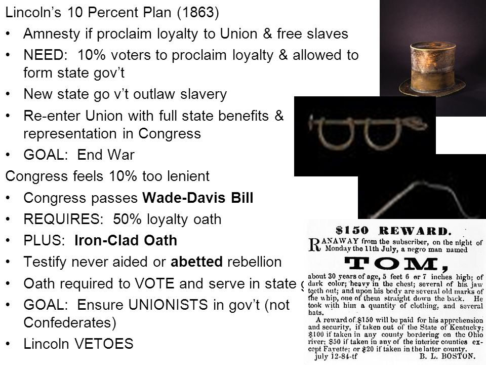 Lincoln's 10 Percent Plan (1863)