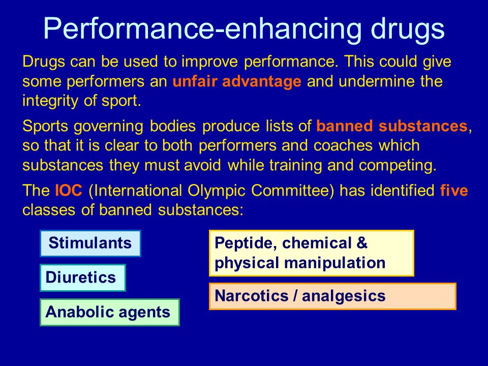 the use of performance drugs in sports Why it's time to legalize steroids in professional sports  doping and other illicit performance enhancing drugs and treatments have become the.