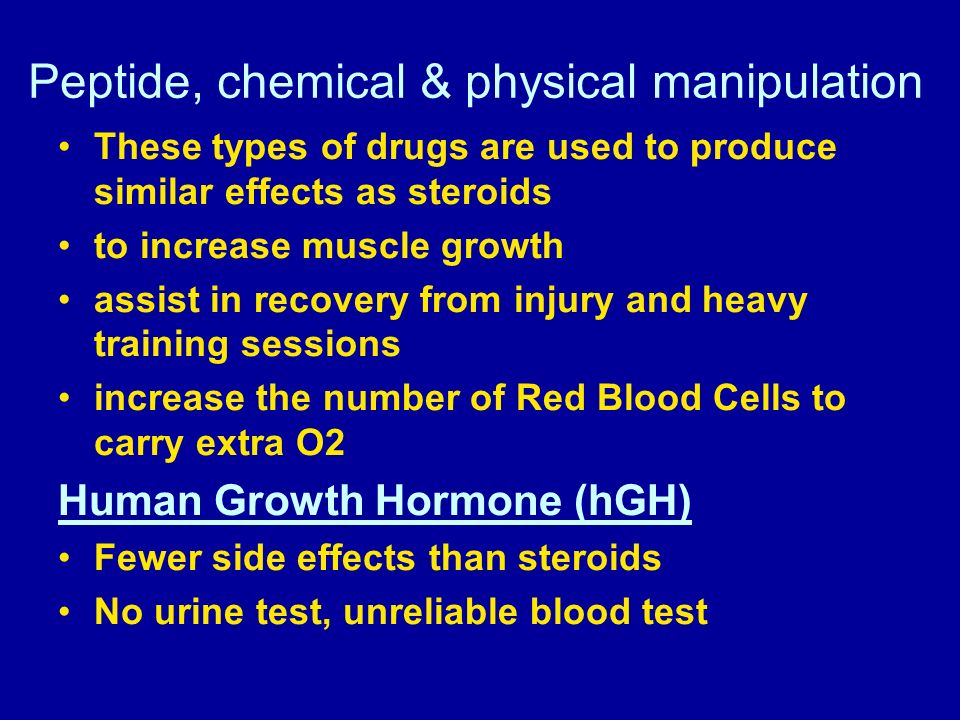 Peptide, chemical & physical manipulation
