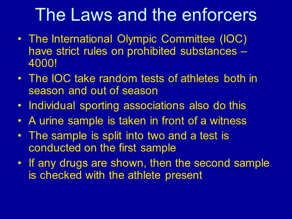 The Laws and the enforcers