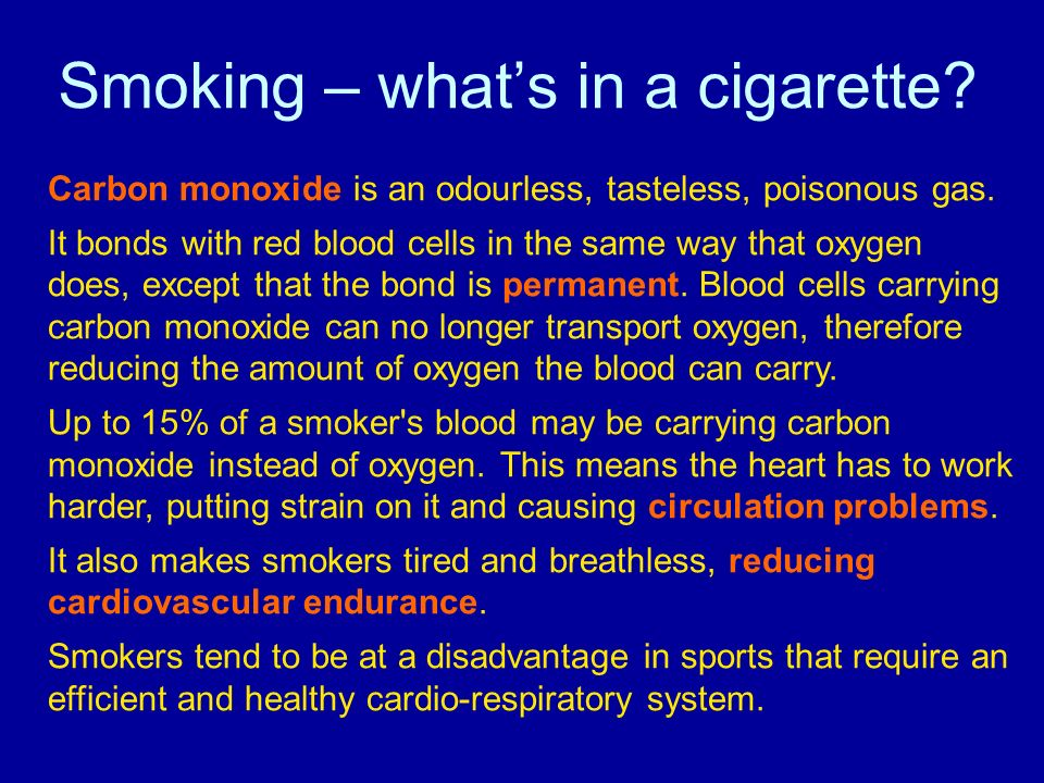 Smoking – what's in a cigarette