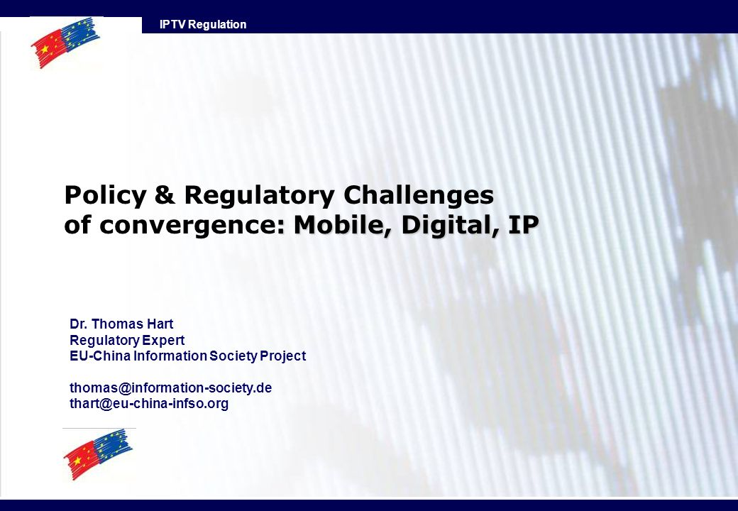Policy & Regulatory Challenges of convergence: Mobile, Digital, IP