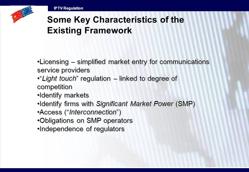 Some Key Characteristics of the Existing Framework