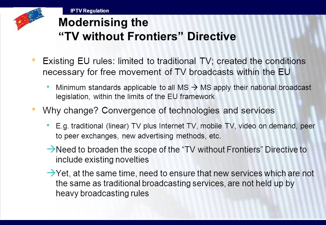 Modernising the TV without Frontiers Directive